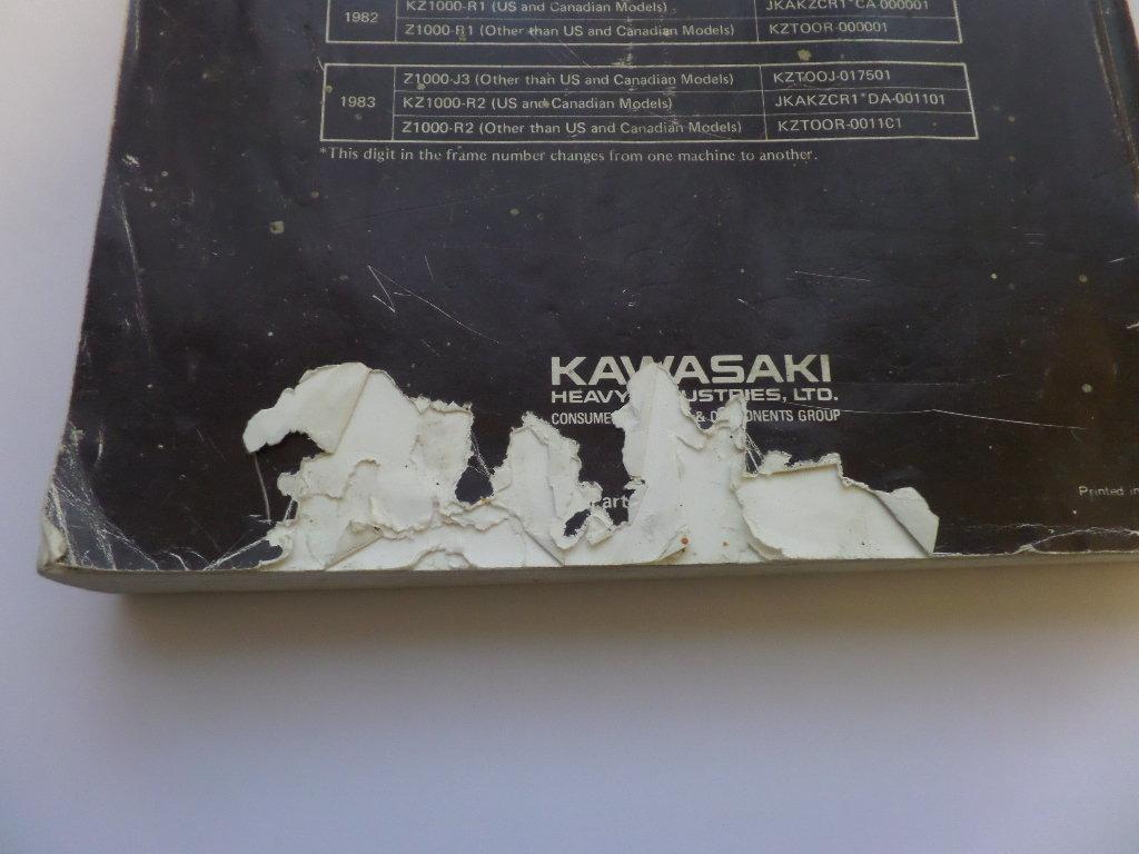 ... Used Kawasaki KZ1000 KZ1100 Factory Manual