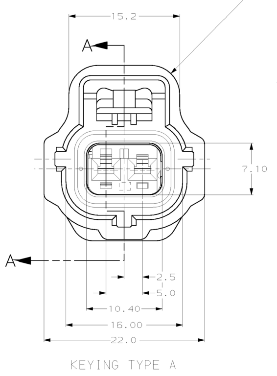 tyco 2 way sealed sensor wiring loom connector key pattern a