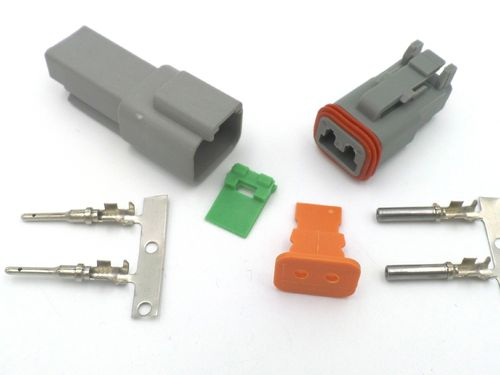 deutsch dt 2 way wiring loom connector dt06-2s dt04-2p