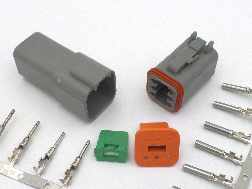 Deutsch Dt 6 Way 12v Wiring Harness Connector Dt04