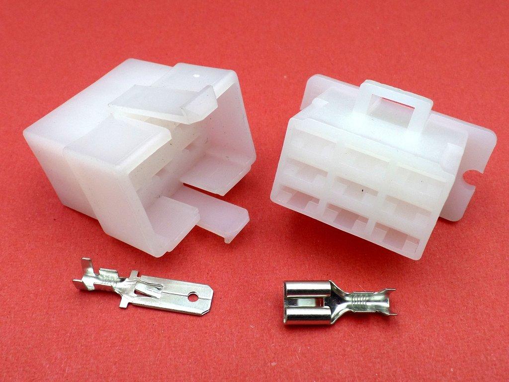 Honda Gl1000 Kz 78 79 Usa 32100431000 Wiring Loom Connectors Gl1100 Diagram 63mm 9 Way 12v White Handlebar Connector