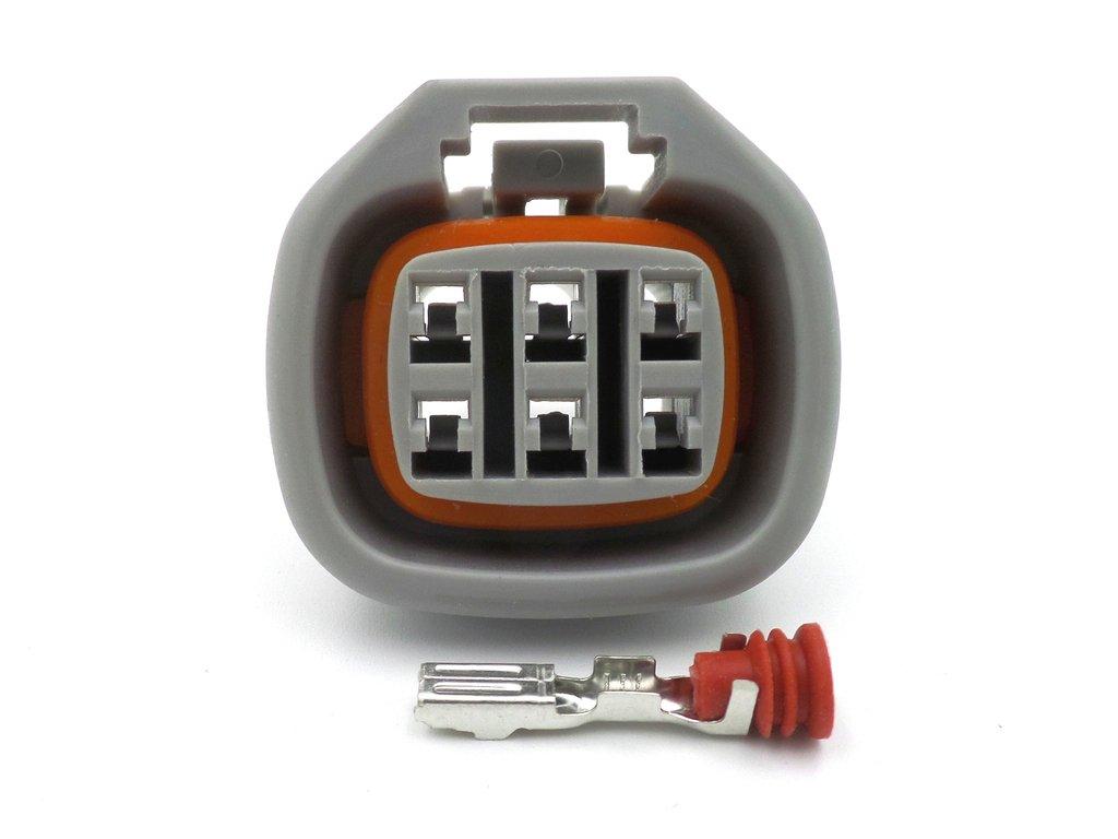 6 Way Yamaha R1 4XV ECU Wiring Loom CDI Connector Plug 090