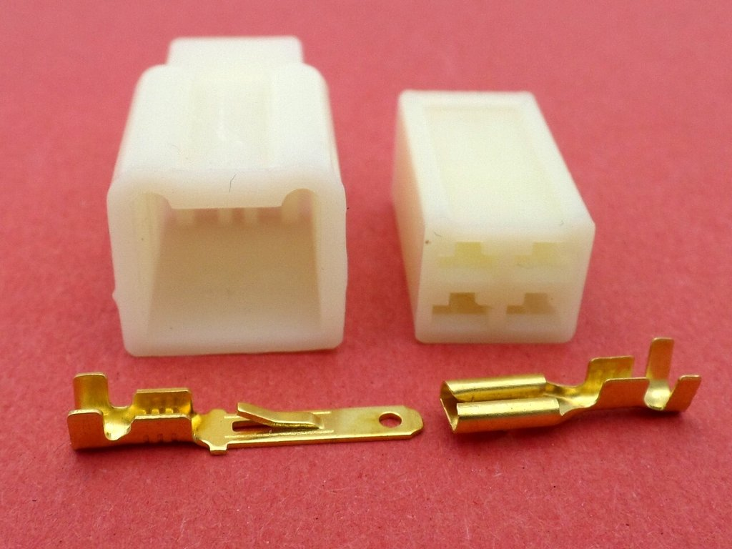 2.8mm 4 Way Cream MTW Motorcycle Wiring Loom Connector