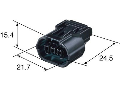3 Way Female HX 040 Hayabusa CBR Map Sensor Wiring Connector