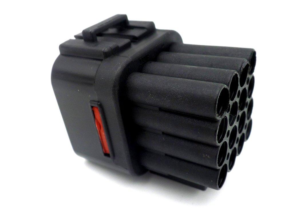16 Black Kawasaki Male Sealed Wiring Loom Connector Plug