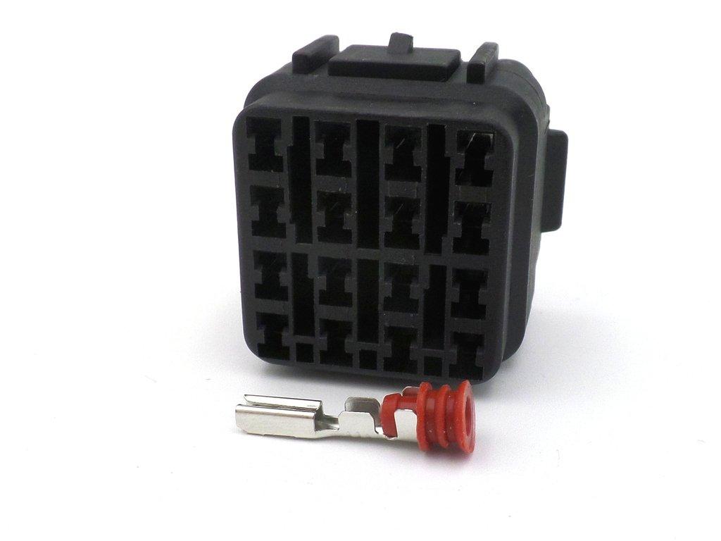 16 Way Black Kawasaki Sealed Wiring Harness Connector Kawasaki Wire Harness Adapter on