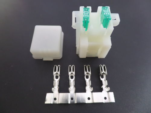 2 way motorcycle bottom entry mini blade fuse box withterminals wire crimp connectors electrical 2 way motorcycle bottom entry blade fuse box crimp terminals