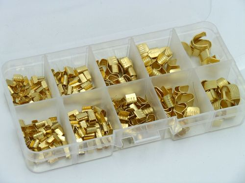 0.5mm² - 10mm² U Joint Cable Crimp Terminal Kit 300 Parts