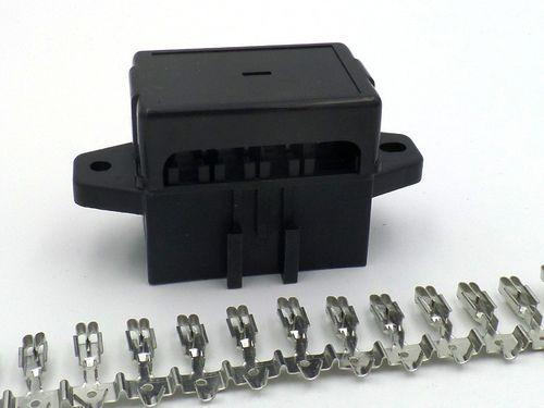 car fuse box crimps wiring diagram Car AC Fuses 9 way automotive bottom entry standard blade fuse box terminals car fuse box crimps