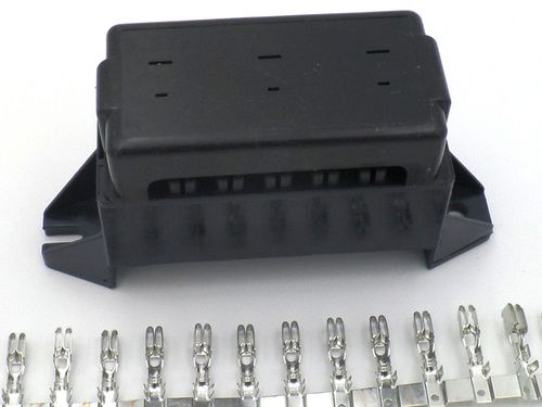 14 way automotive bottom entry blade fuse box with terminals Car AC Fuses 14 way automotive bottom entry blade fuse box crimp terminals
