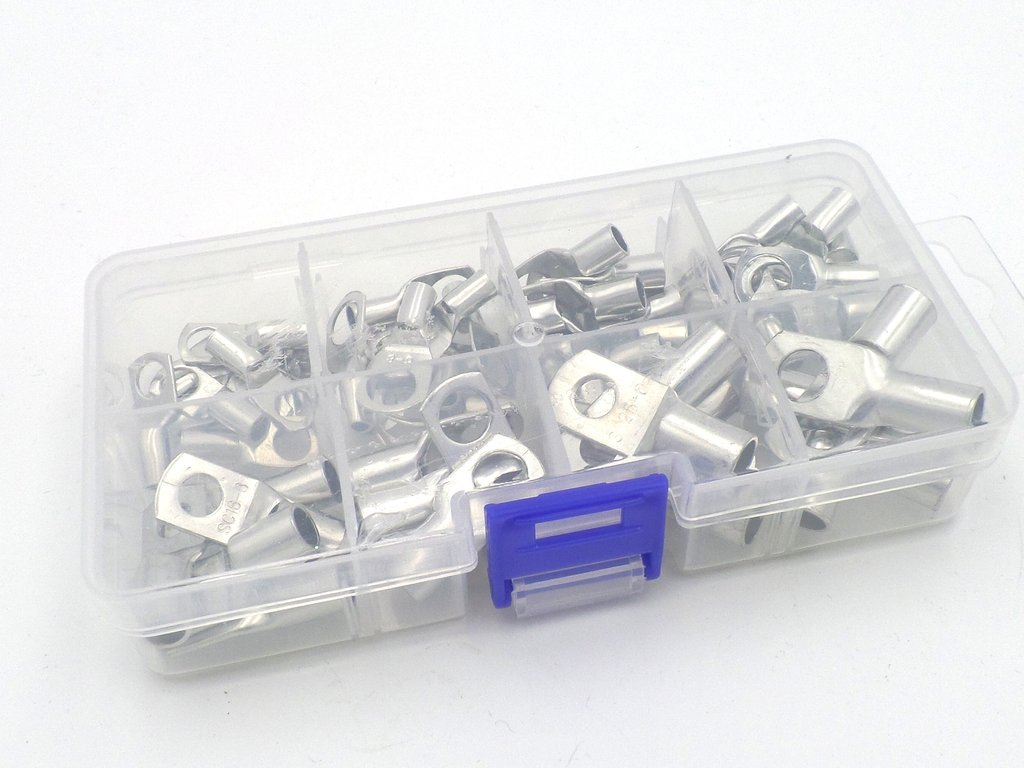 Tinned Copper Tube Cable Ring Terminal Lug 60 Pack