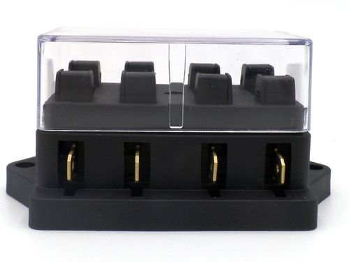surface mount 4 way side entry automotive and marine fuse box